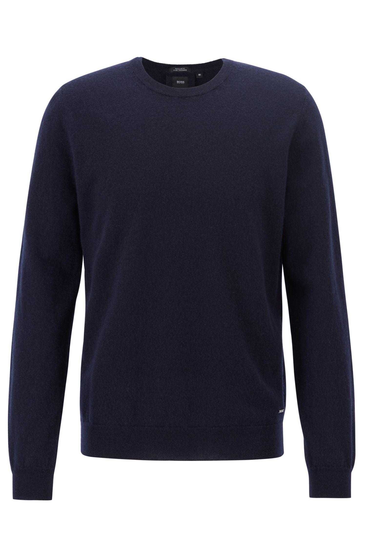 Lichte trui van Italiaans kasjmier, Donkerblauw