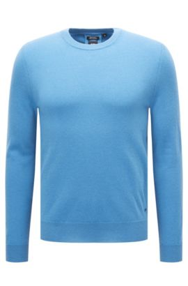 Lichte trui van Italiaans kasjmier, Blauw