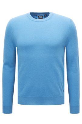 Leichter Regular-Fit Pullover aus italienischem Kaschmir, Blau