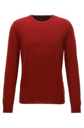 Leichter Regular-Fit Pullover aus italienischem Kaschmir, Rot