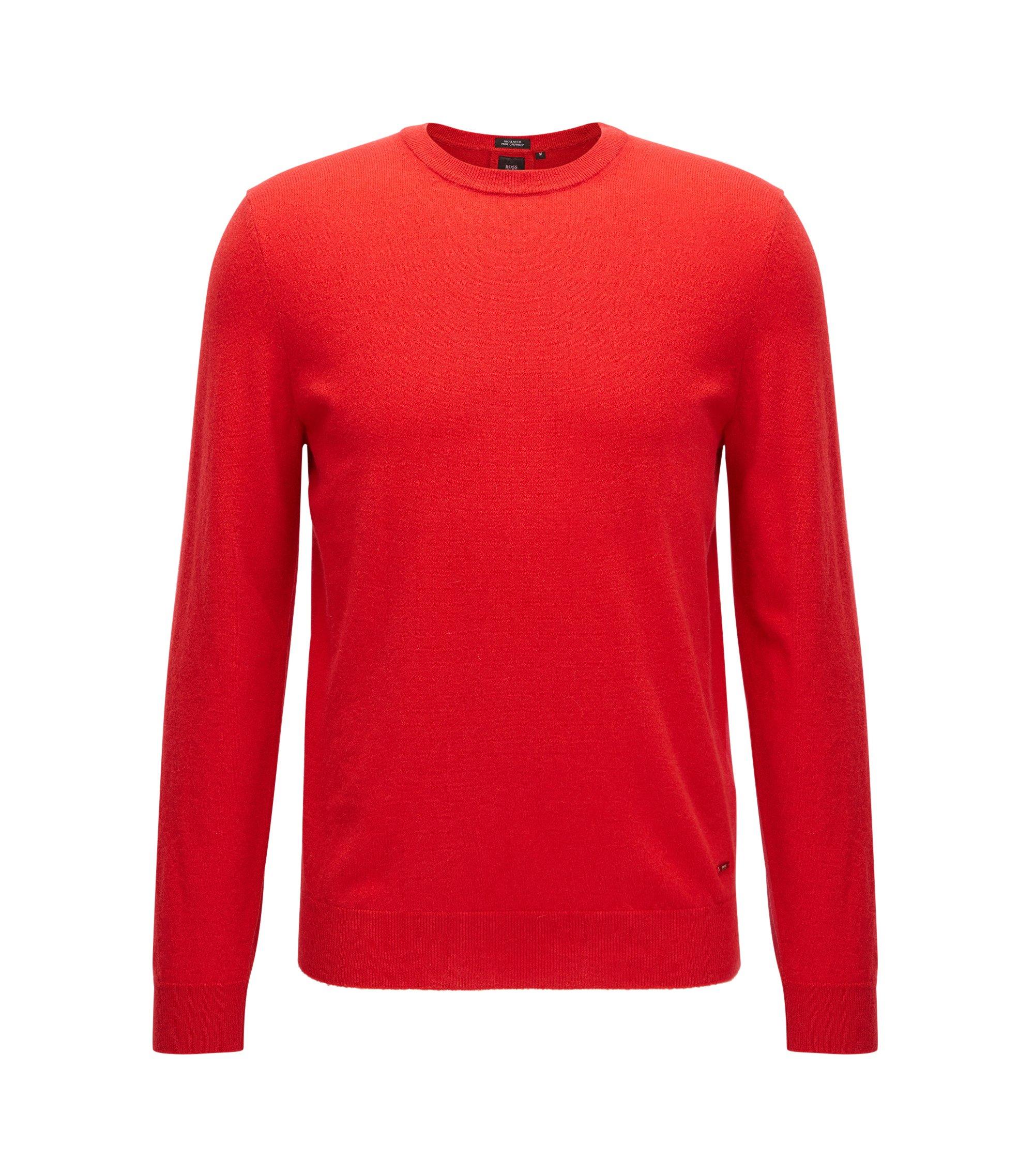 Jersey ligero en cachemira italiana, Rojo