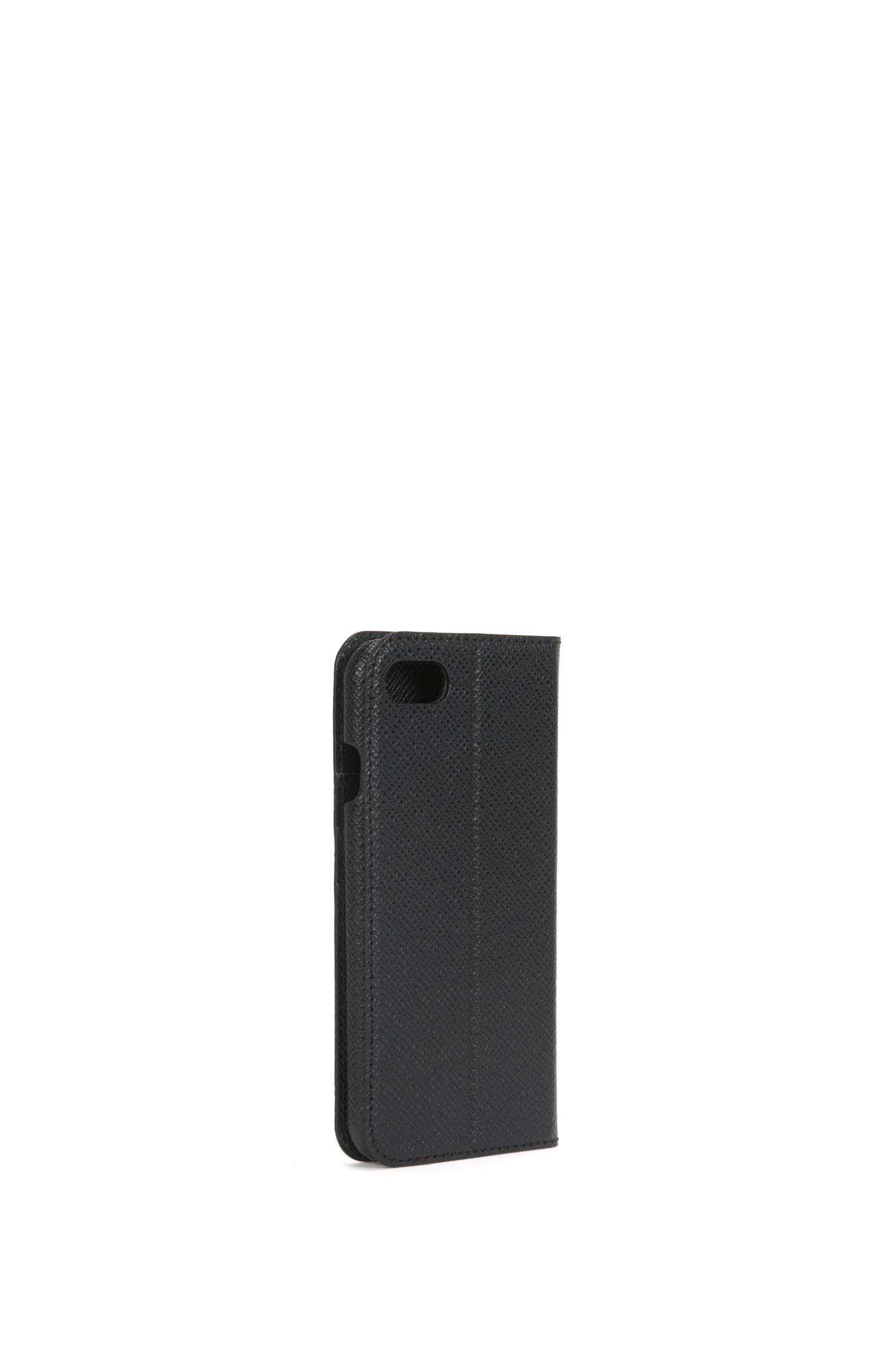 Klapp-Etui aus strukturiertem Leder für iPhone7