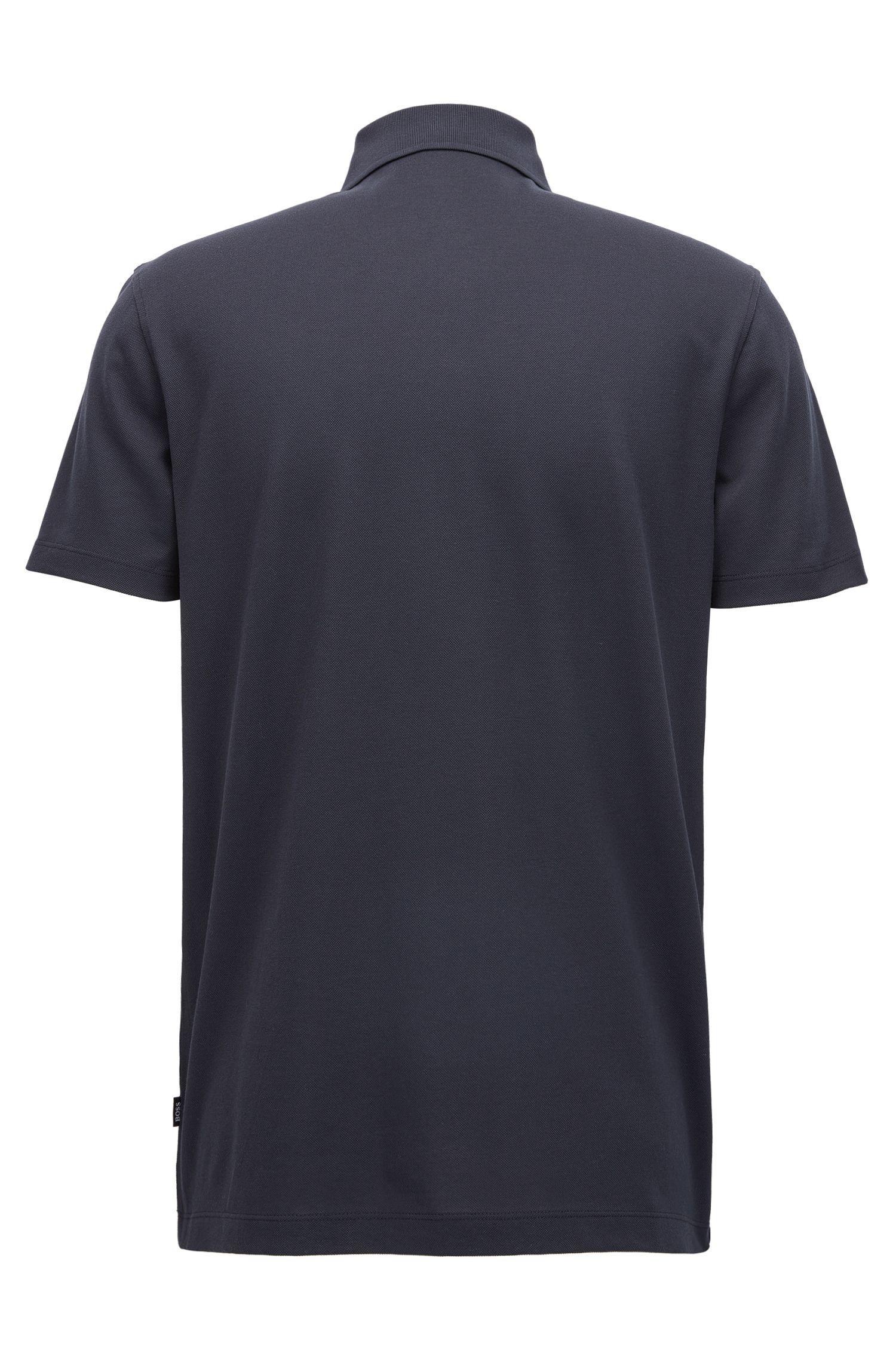 Regular-fit polo shirt in mercerised piqué cotton