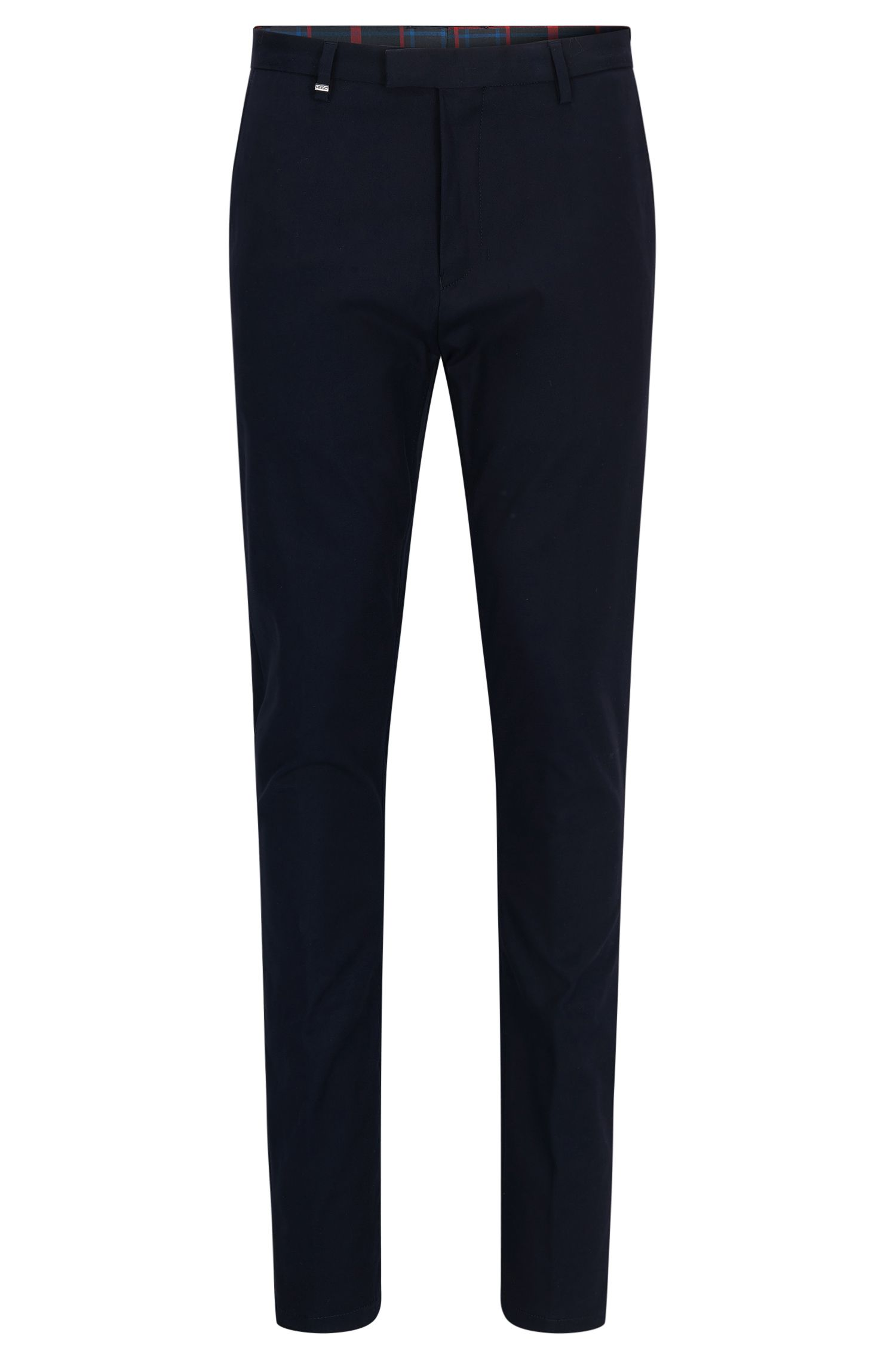 Tapered-fit trousers in stretch gabardine