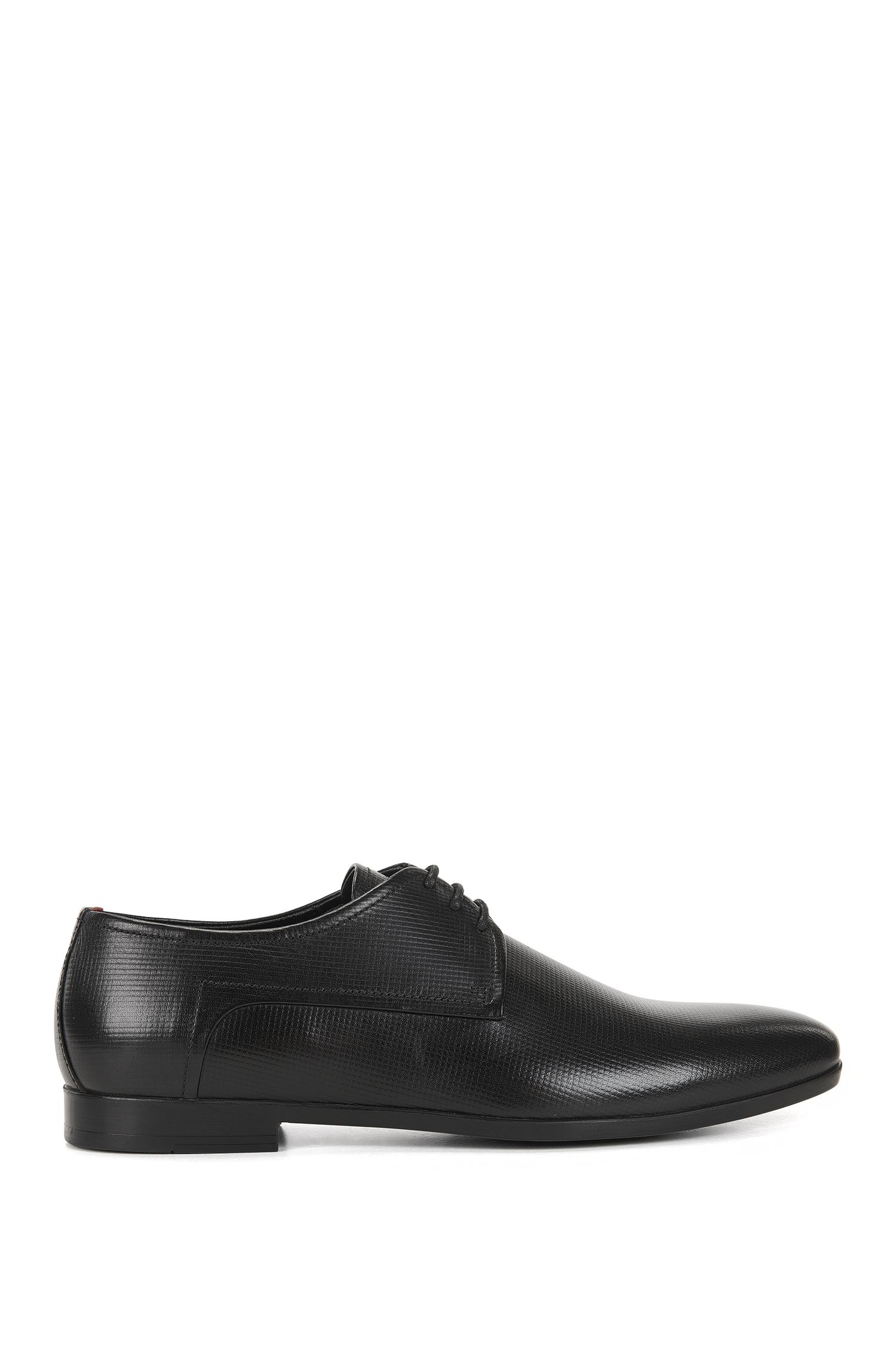 Derby shoes in embossed leather