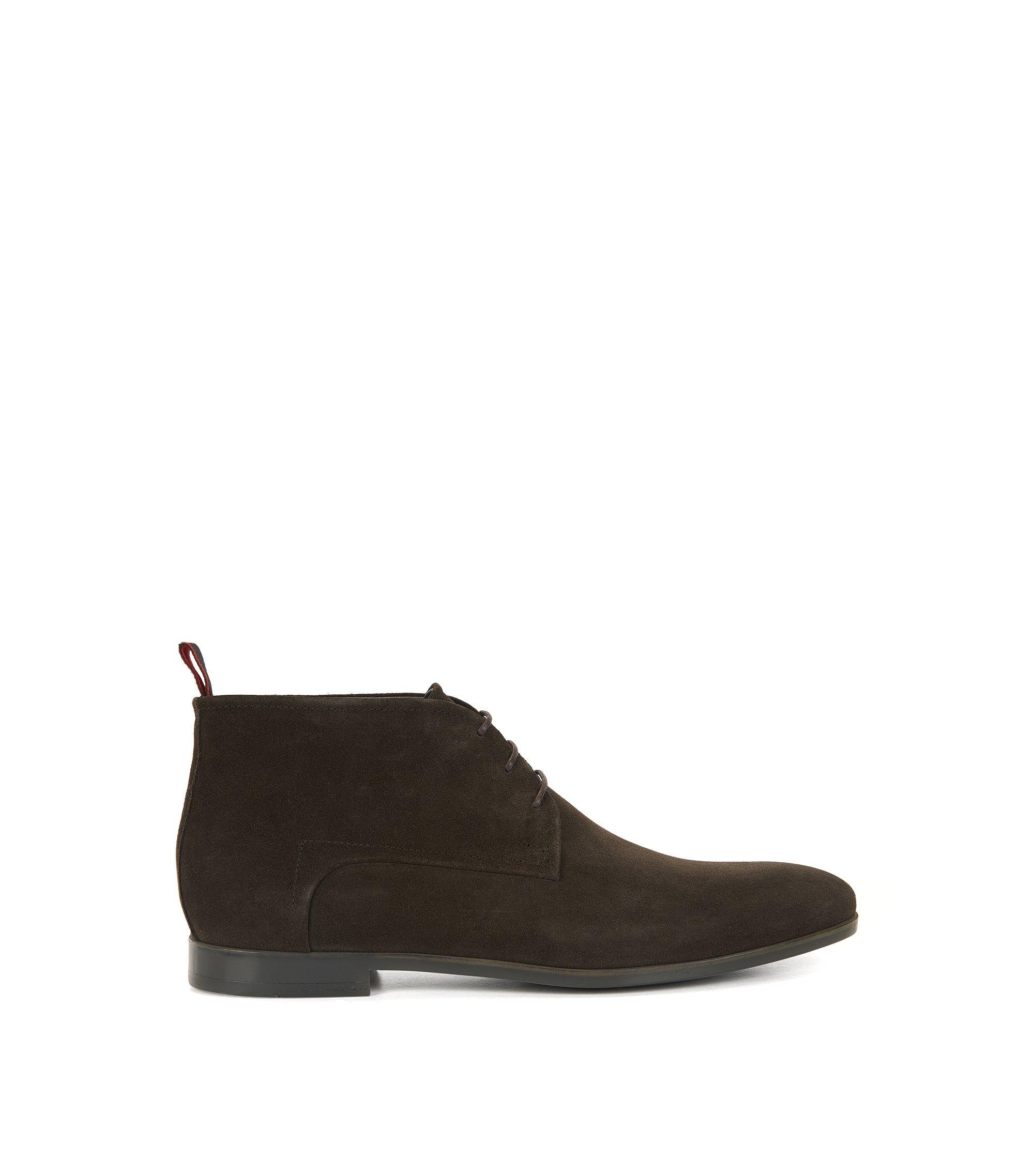 Desert boots en daim, doublées de cuir, Marron foncé