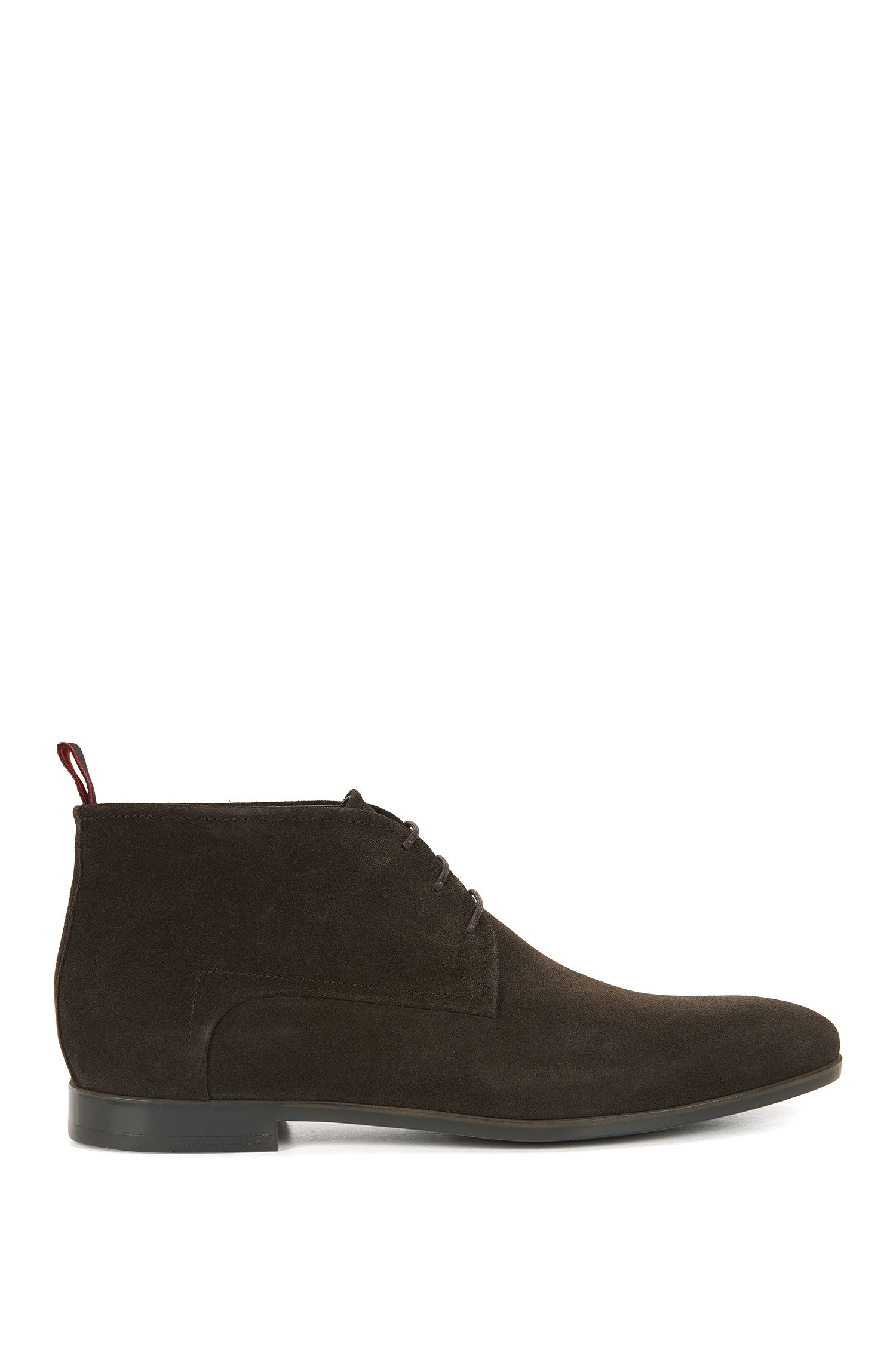 Suede desert boots with leather lining
