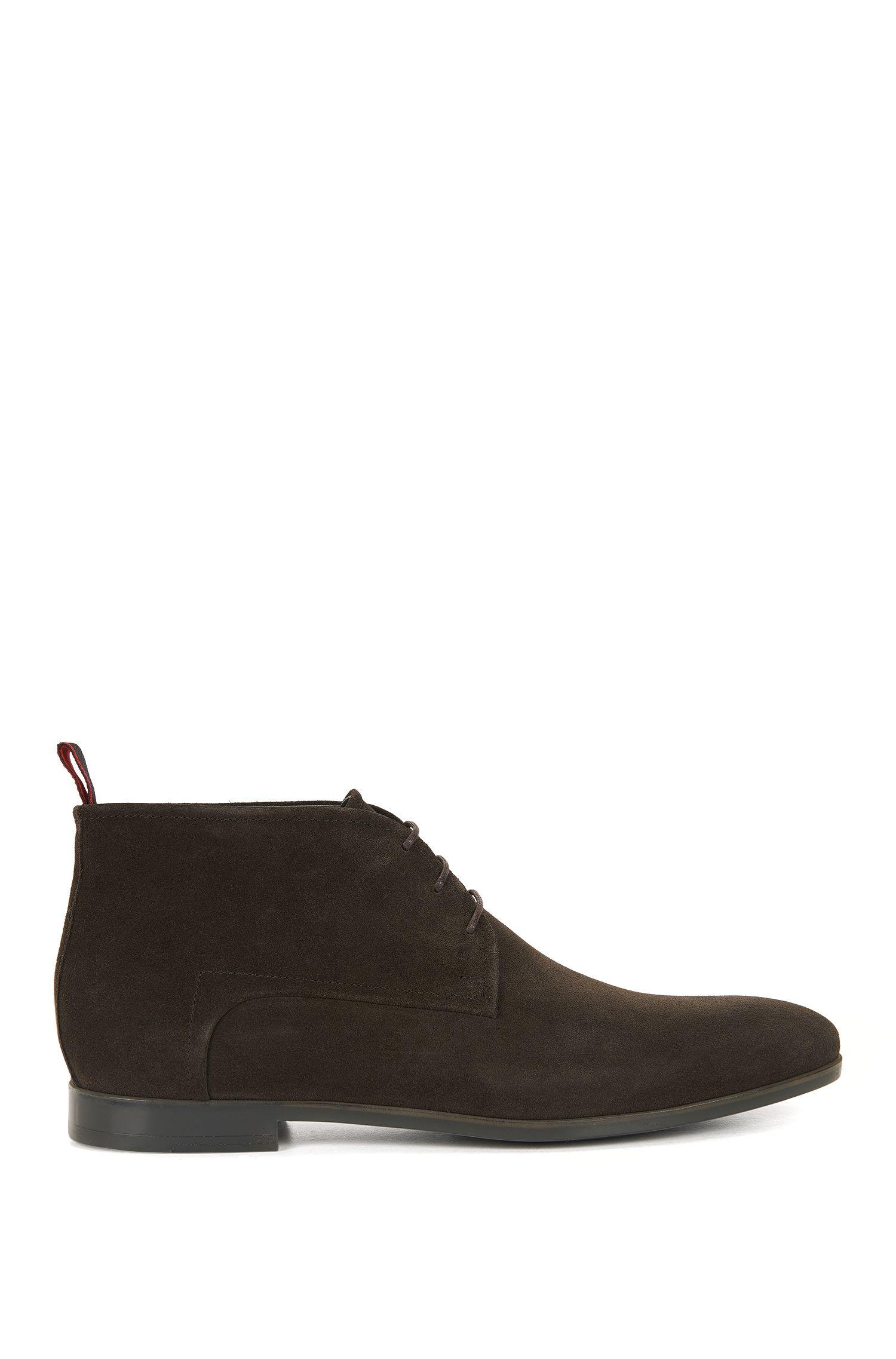 Desert boots en daim, doublées de cuir