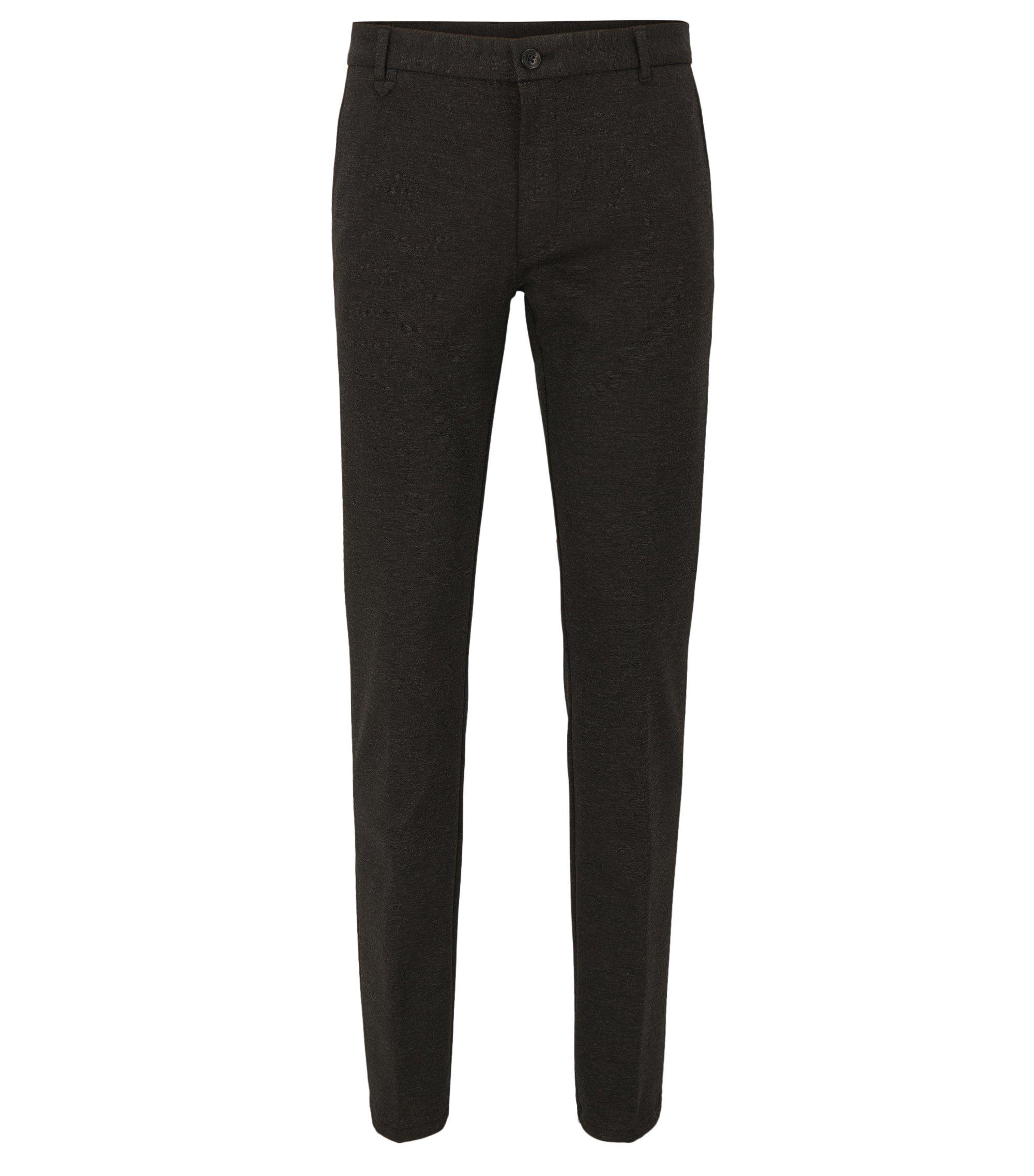 Pantaloni extra slim fit in tessuti tecnici misti elasticizzati, Grigio antracite