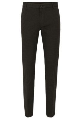 Extra-slim-fit trousers in a stretch technical blend, Anthracite