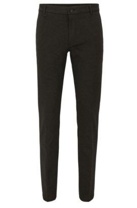 Pantalon Extra Slim Fit en tissu technique mélangé stretch, Anthracite