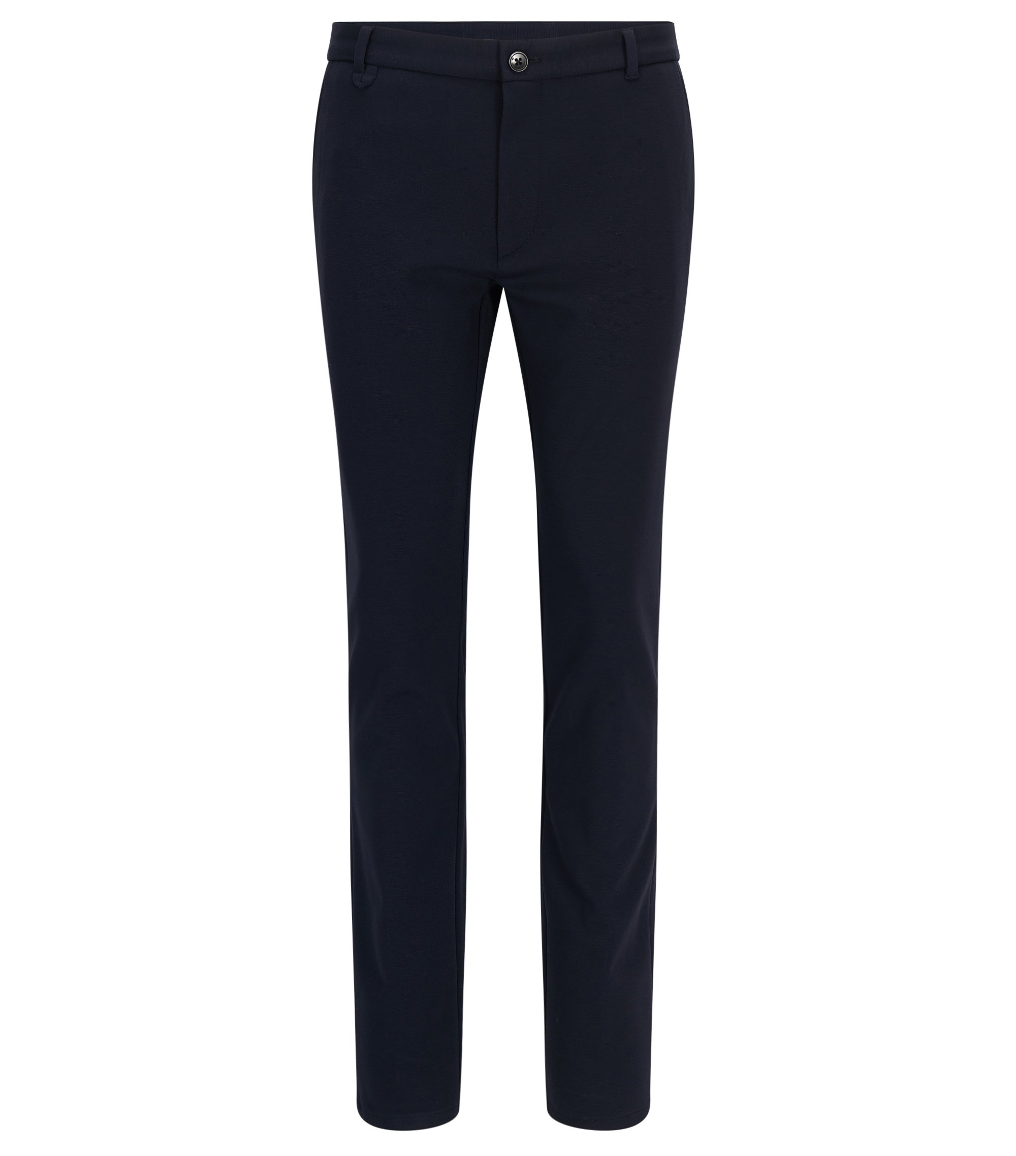 Pantalon Extra Slim Fit en tissu technique mélangé stretch, Bleu foncé