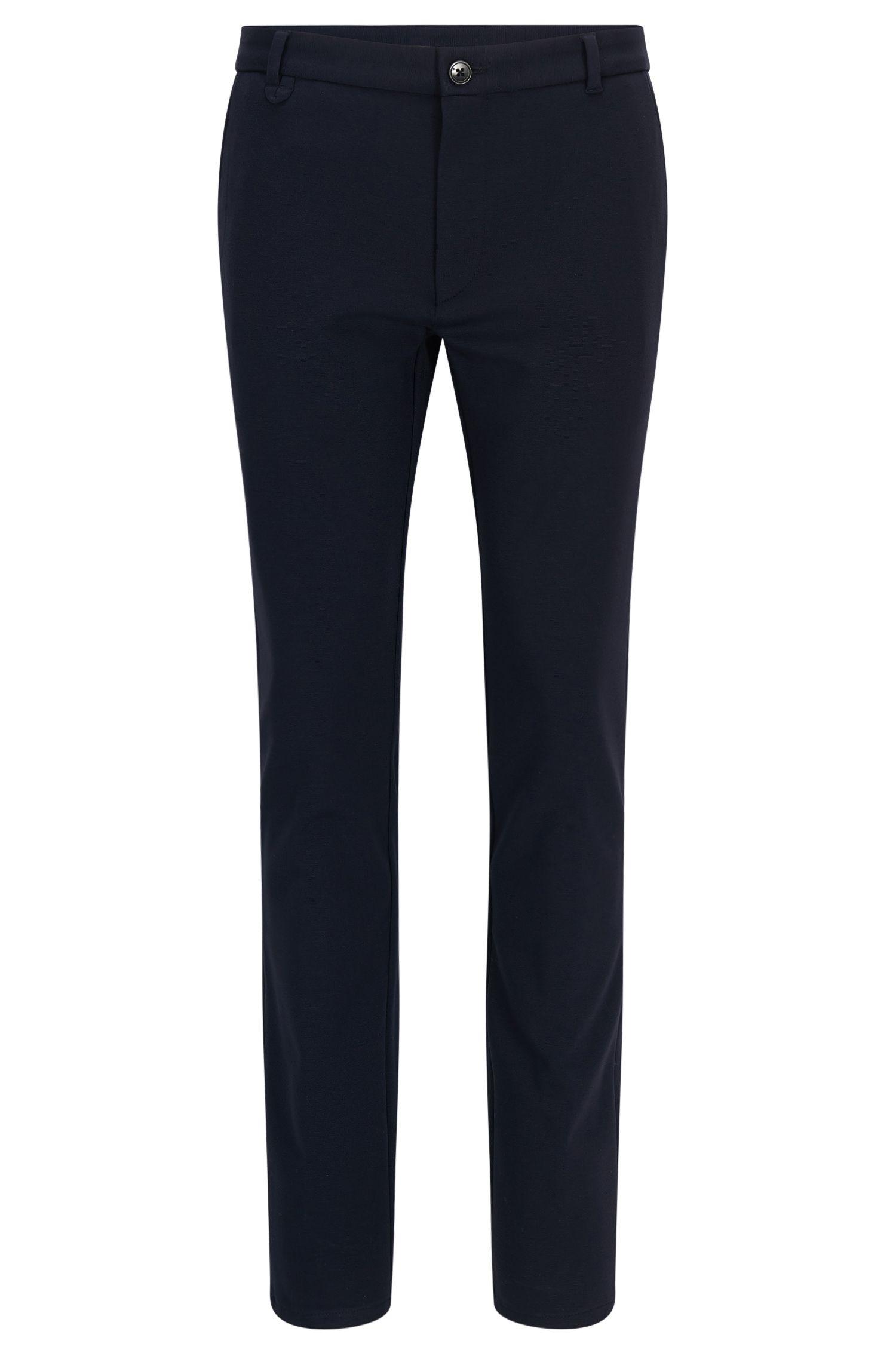Extra-Slim-Fit-Hose aus elastischem Material-Mix