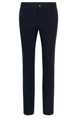 Extra slim-fit broek van een technische materiaalmix met stretch, Donkerblauw