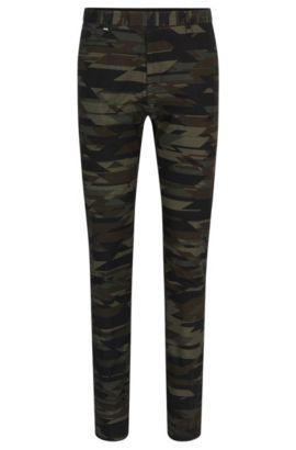 Pantalon Tapered Fit camouflage en sergé de coton stretch, Fantaisie