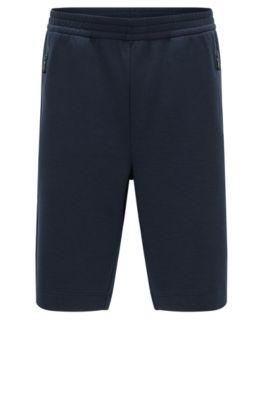 Slim-Fit Shorts aus Baumwoll-Mix mit Elasthan-Anteil, Dunkelblau