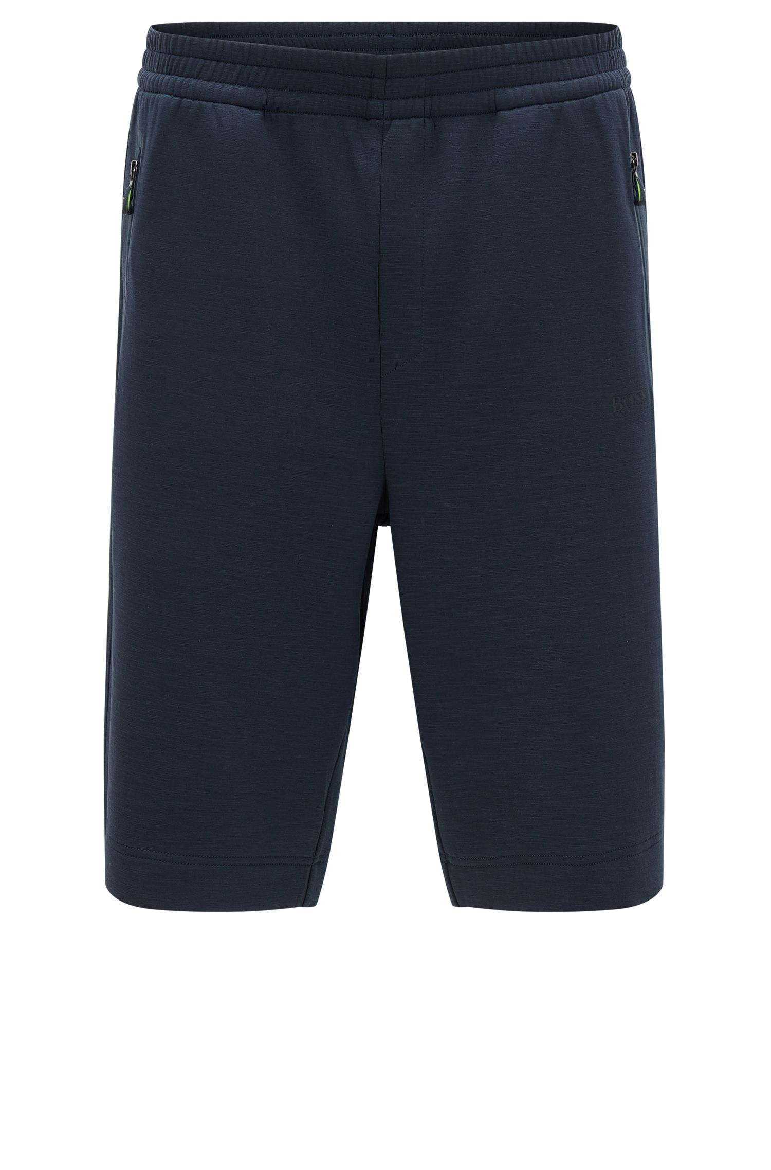 Jersey shorts in stretch cotton blend