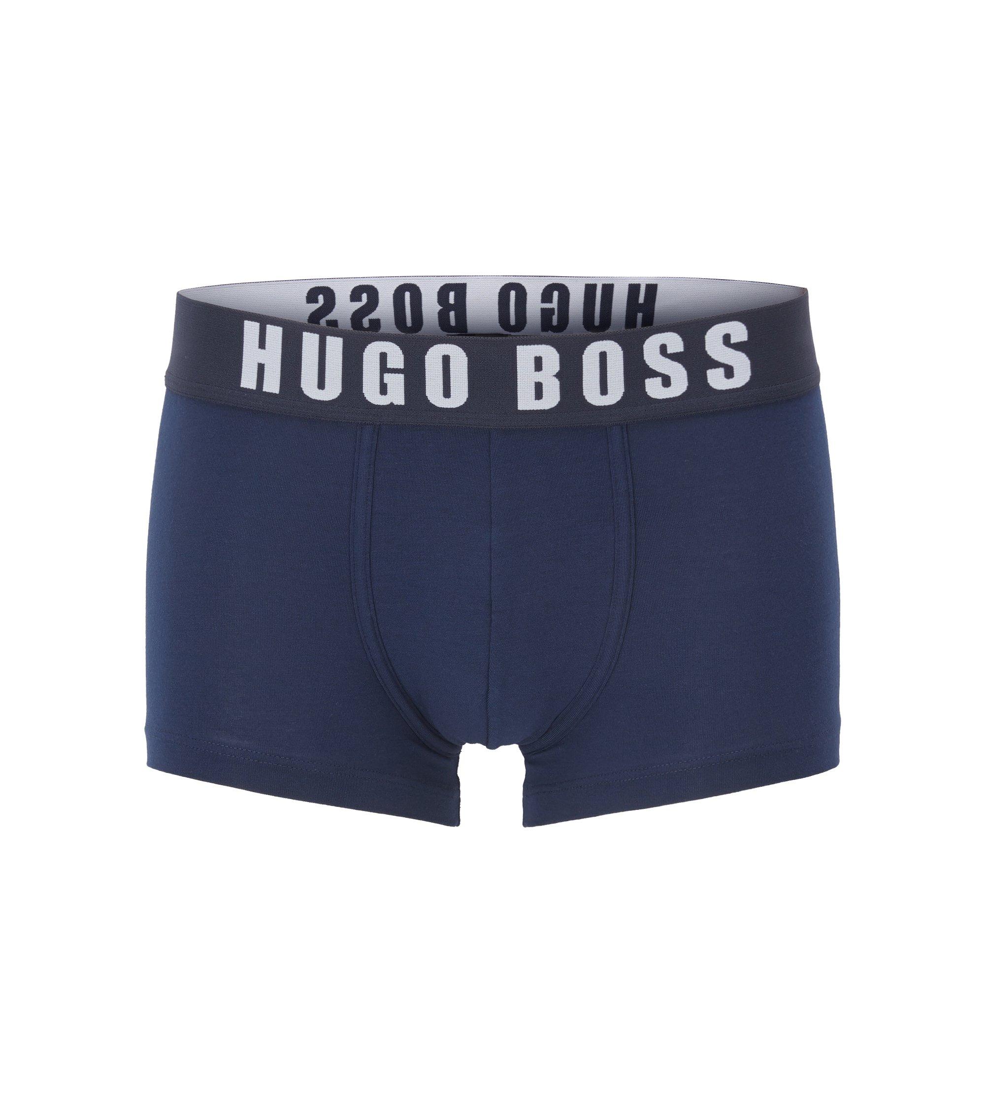 Mittelhohe Boxershorts aus Baumwoll-Mix mit Modal, Dunkelblau