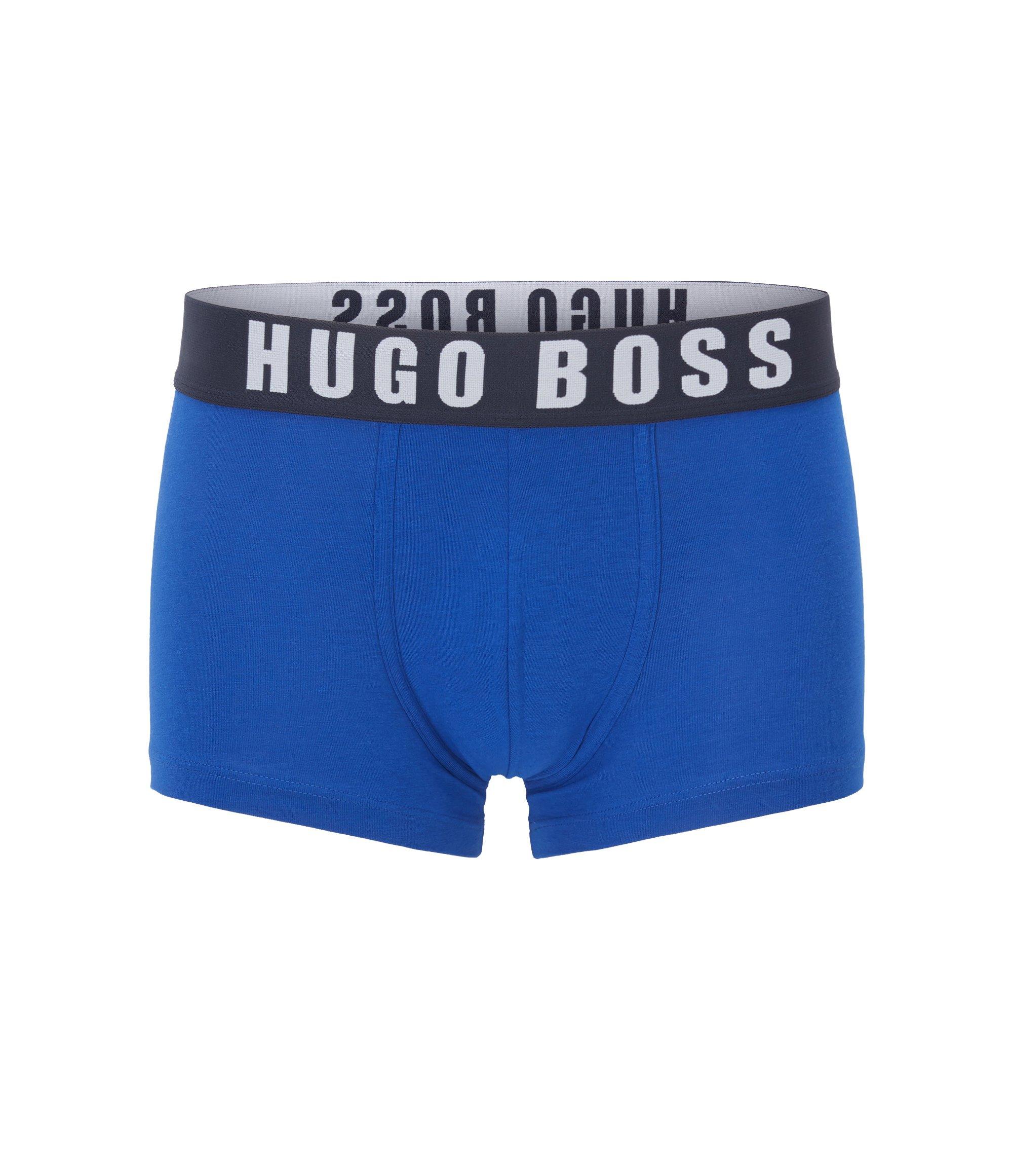 Mittelhohe Boxershorts aus Baumwoll-Mix mit Modal, Blau
