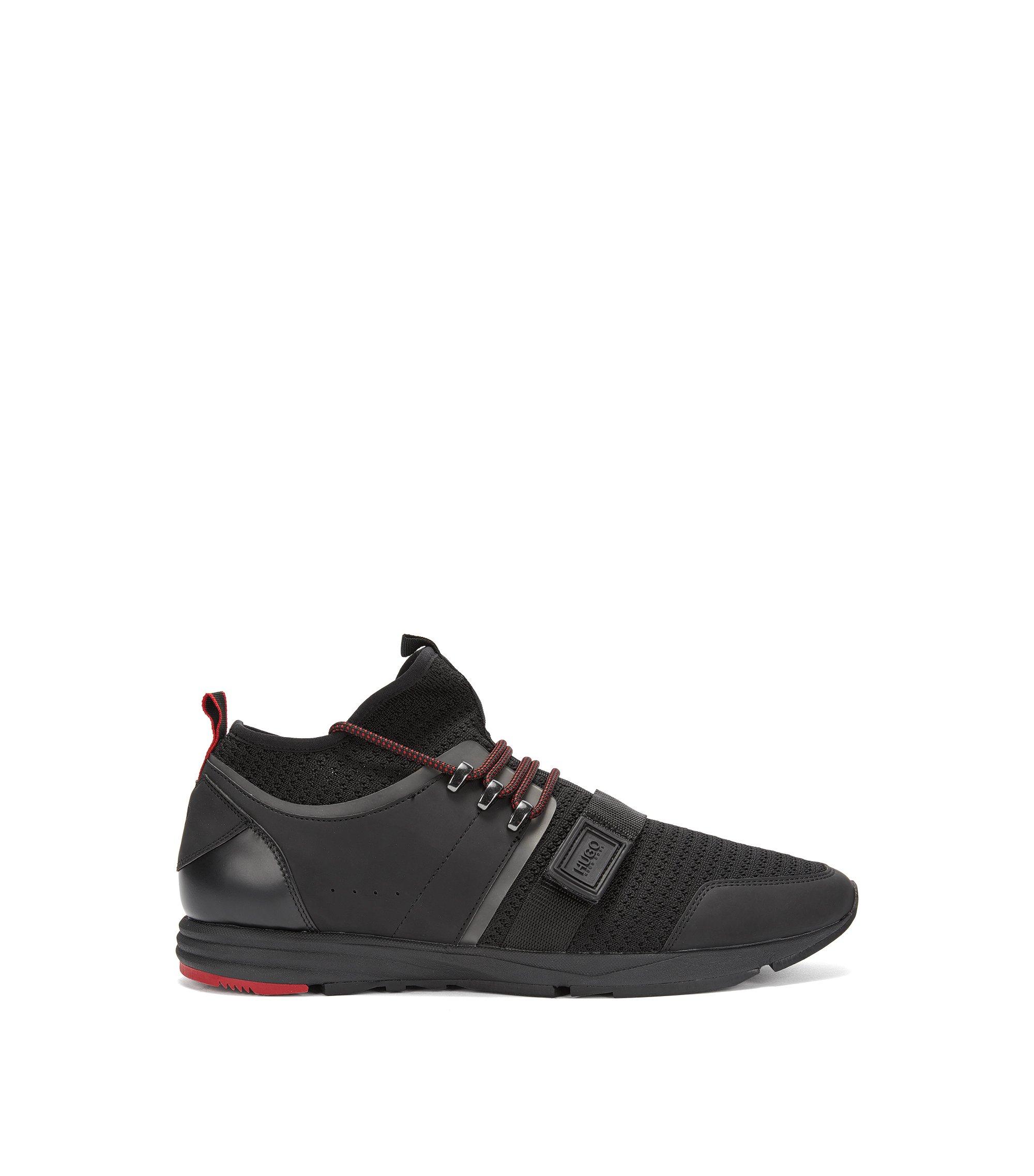 Lichte sneakers van een technische, gebreide jacquard, Zwart