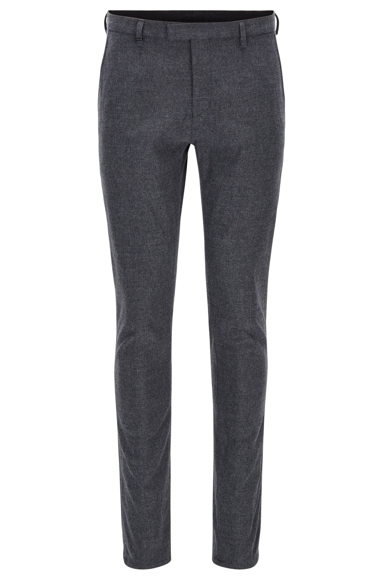 Pantaloni tapered fit in misto cotone spazzolato