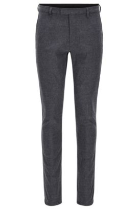 Tapered-Fit-Hose aus angerautem Baumwoll-Mix, Grau