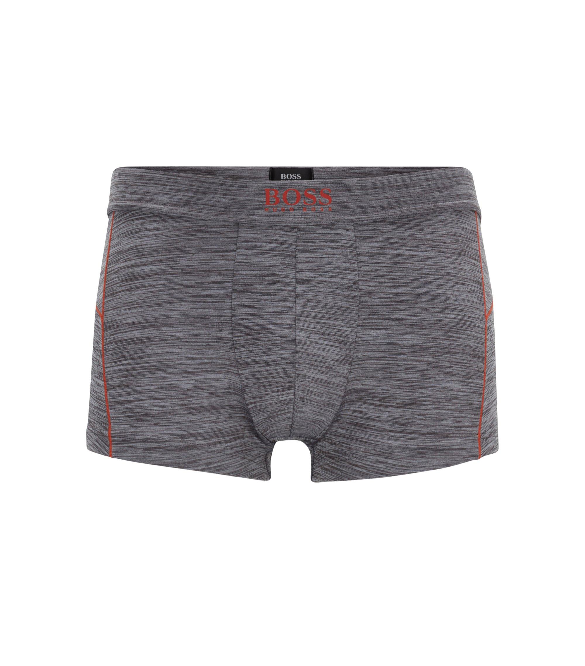 Logo-waistband trunks in stretch microfibre, Grey