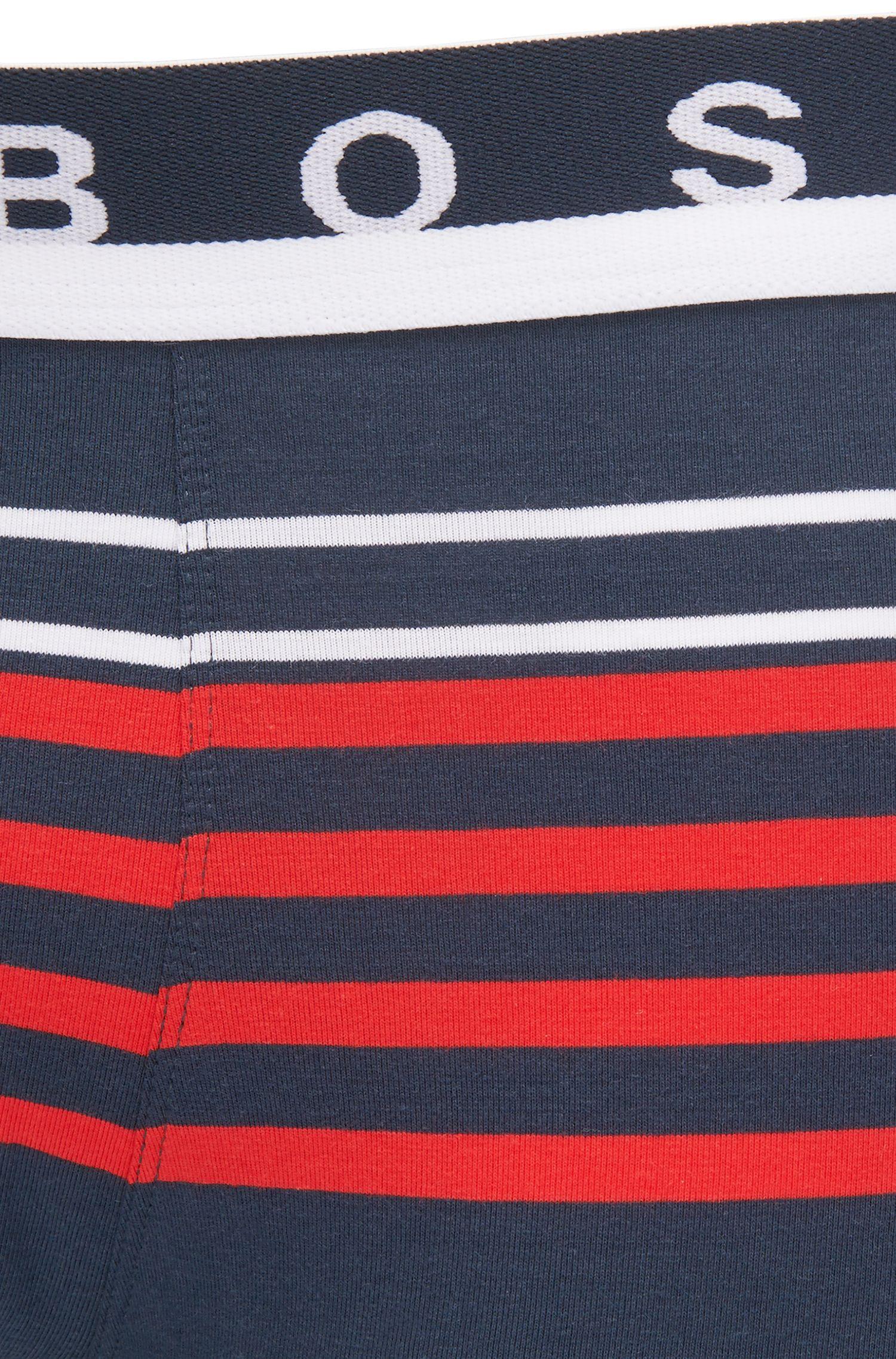 Boxer a righe in jersey di cotone elasticizzato