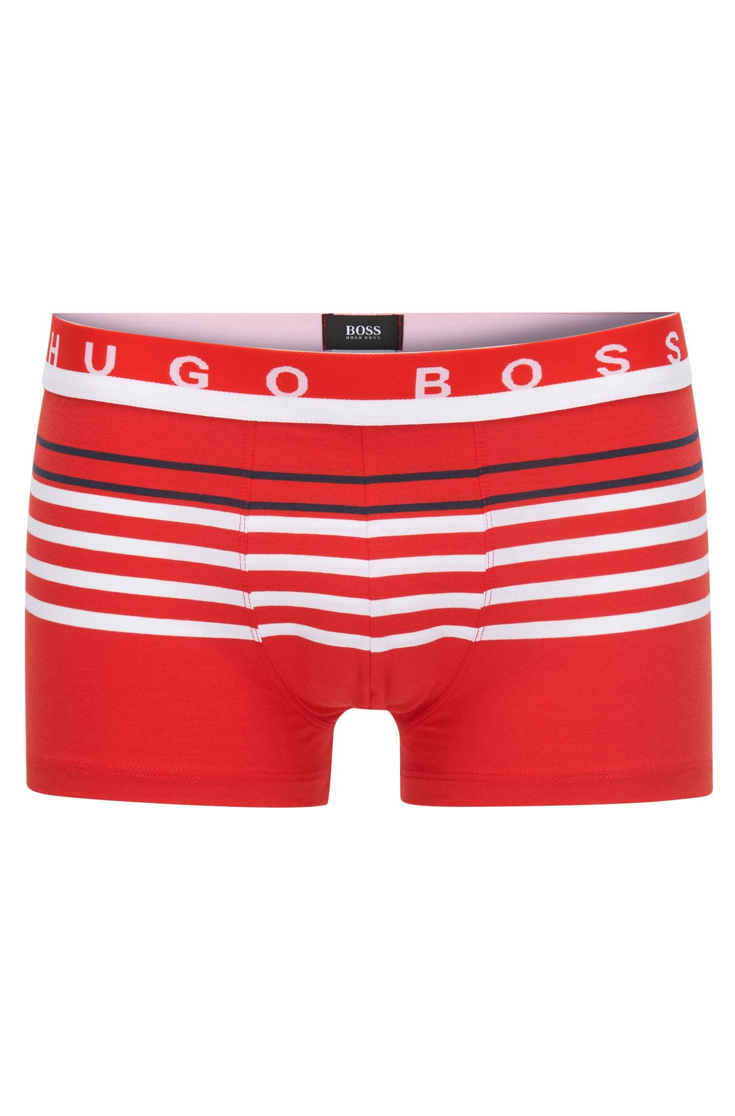 Striped trunks in stretch-cotton jersey