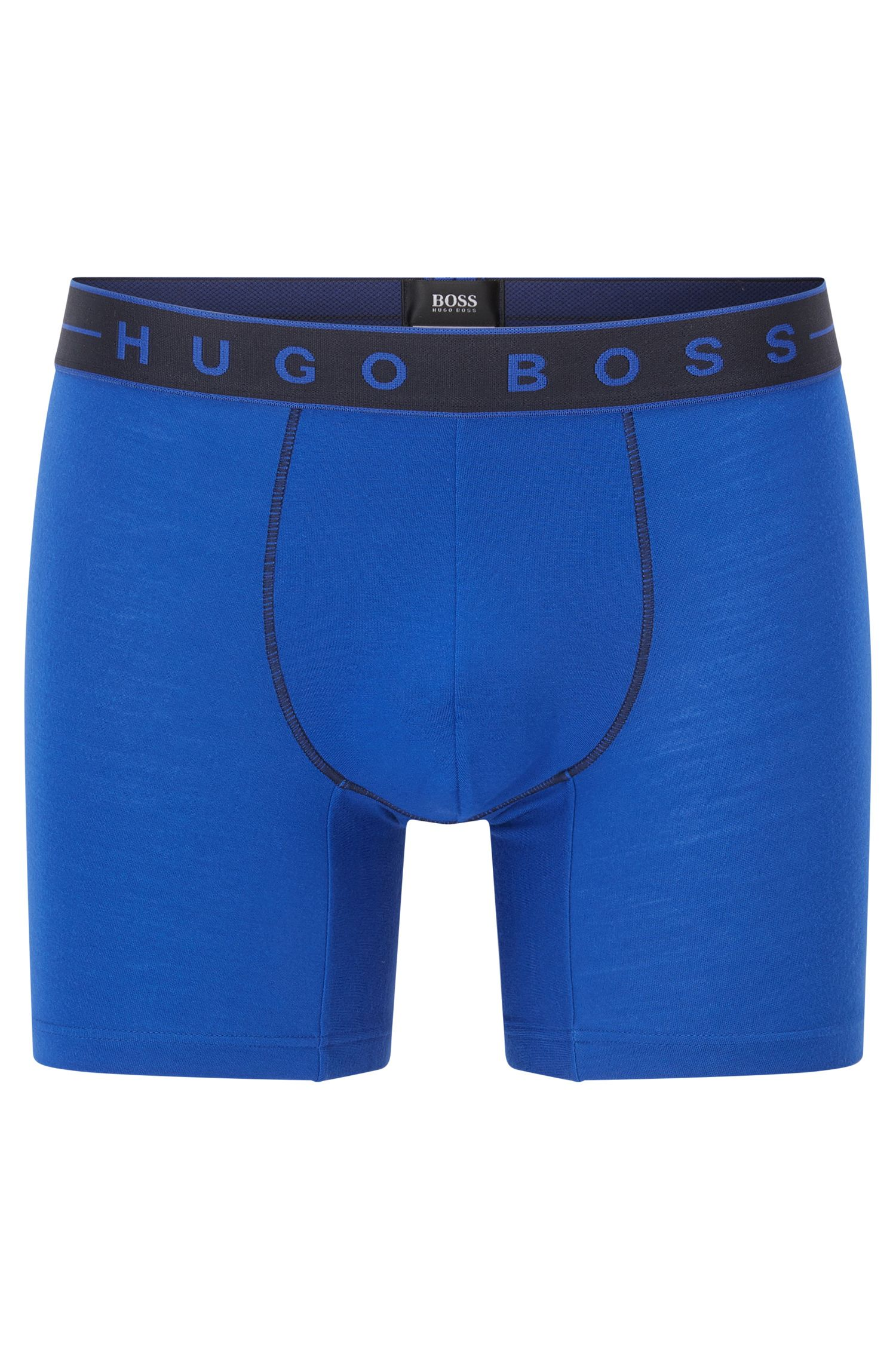 Boxers en jacquard simple, Bleu