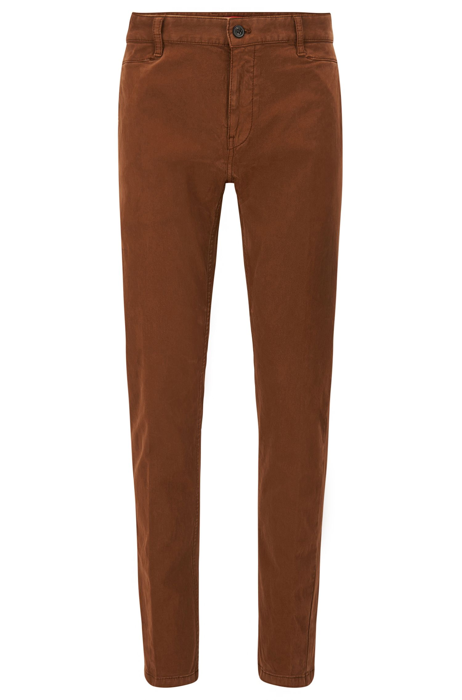 Pantalon Slim Fit en sergé brisé de coton stretch