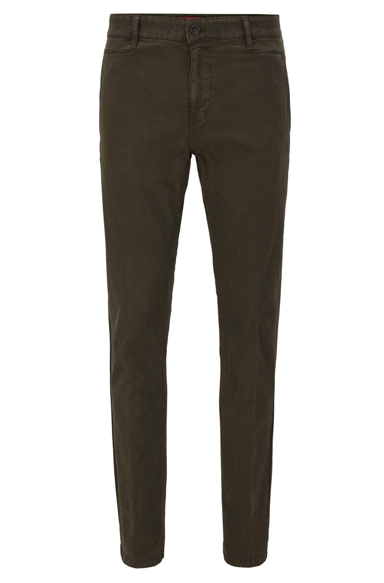 Pantalon Slim Fit en sergé brisé de coton stretch