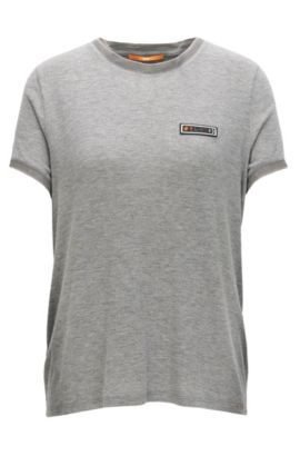 T-shirt Regular Fit en jersey de modal stretch aux effets chatoyants, Gris