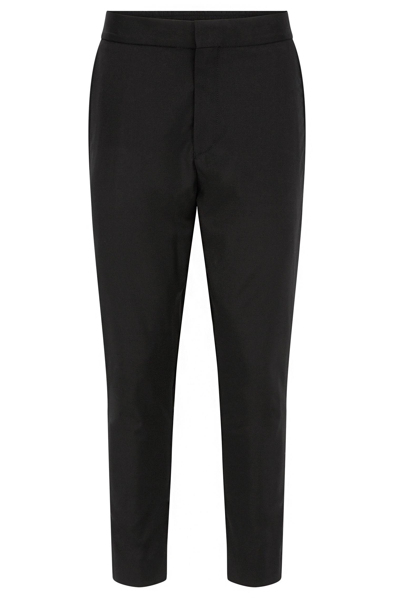 Pantalón slim fit en lana virgen