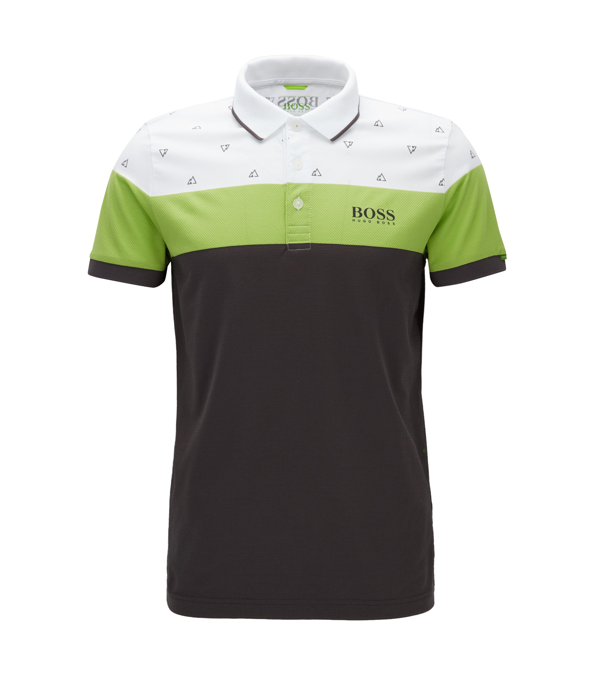 Regular-fit polo shirt in a cotton blend, White