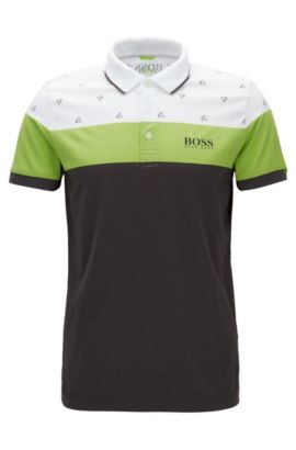 Regular-Fit Poloshirt aus Baumwoll-Mix, Weiß