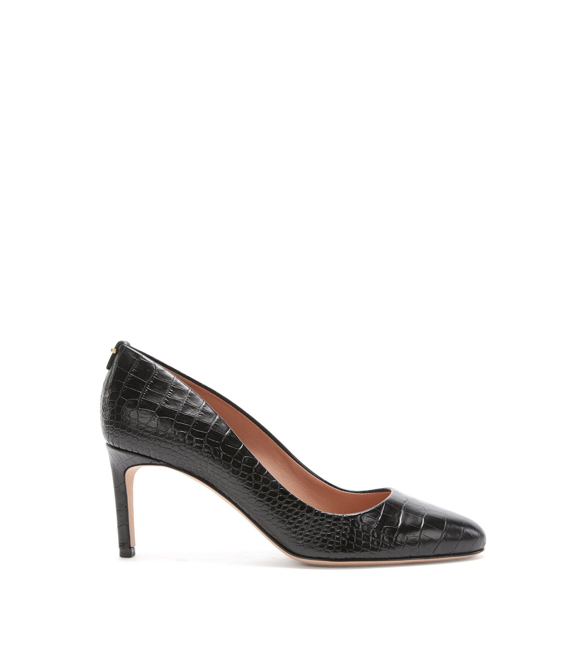Zapatos de salón de BOSS Luxury Staple en piel italiana , Negro