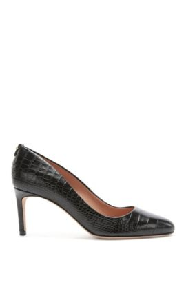 Escarpins BOSS Luxury Staple en cuir italien , Noir