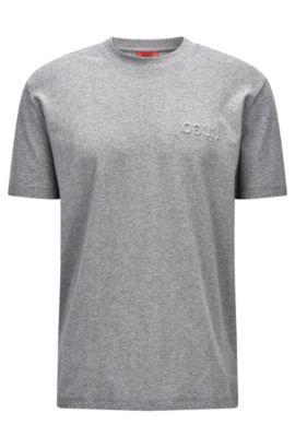 T-shirt Oversized Fit en coton Pima, Gris chiné