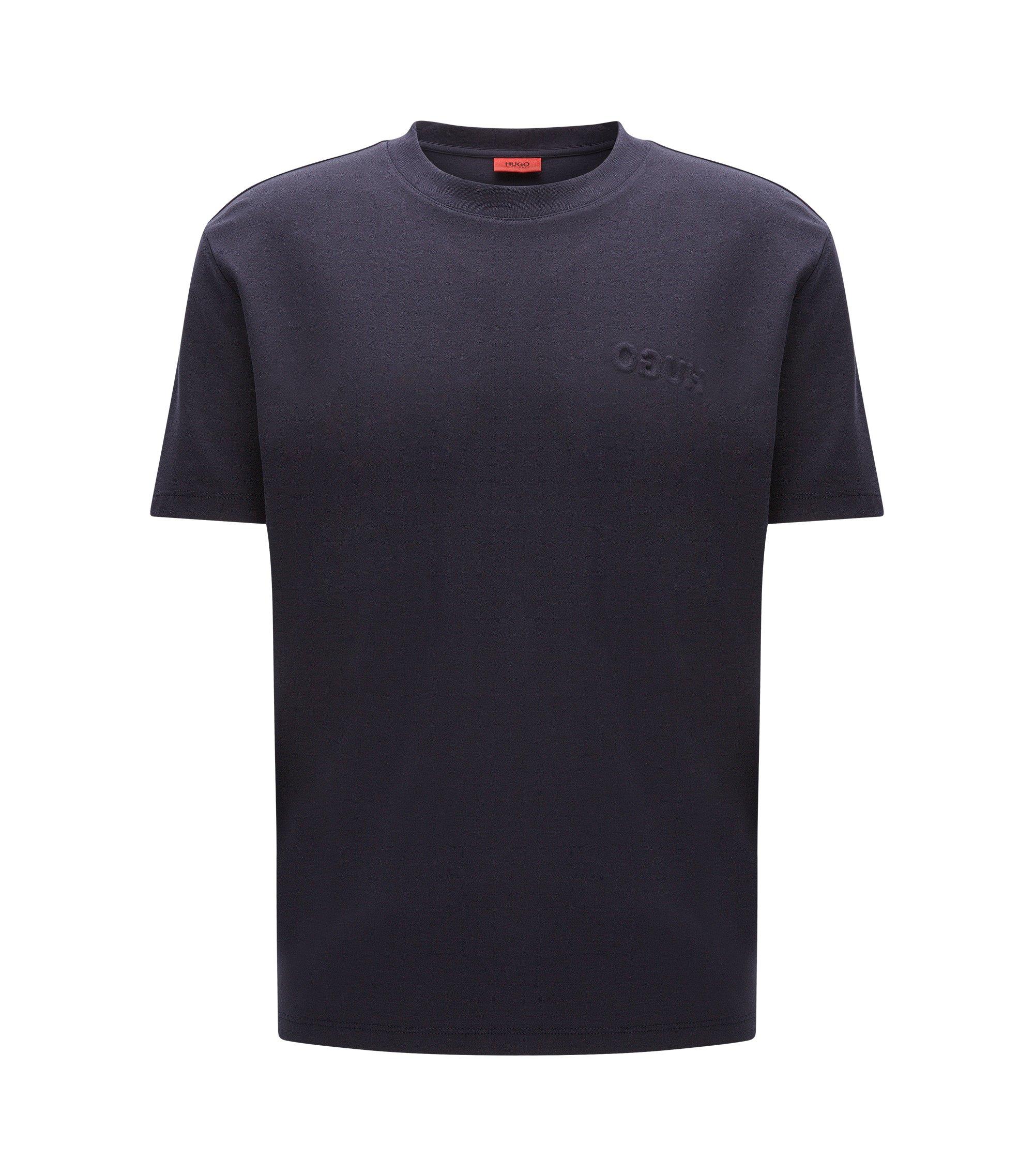 Oversize Shirt aus Pima-Baumwolle, Dunkelblau