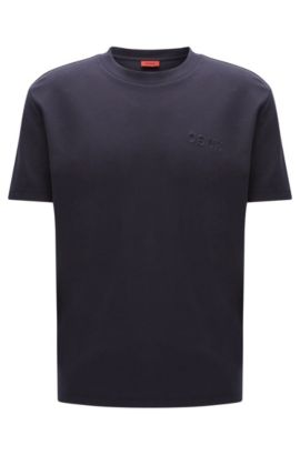 Oversized-fit T-shirt in pima cotton, Dark Blue