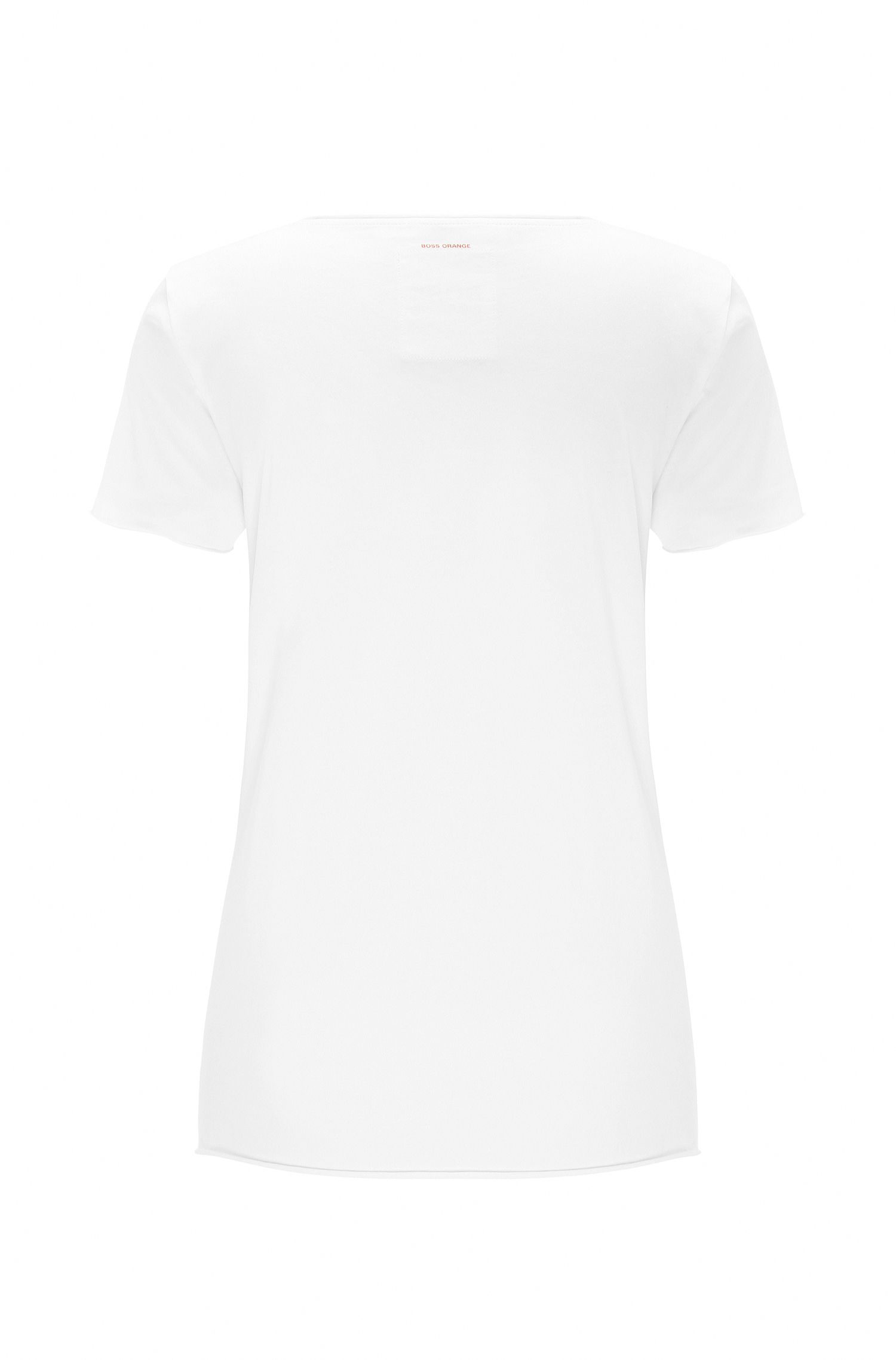 Pure cotton print t-shirt: 'Tilogo', White