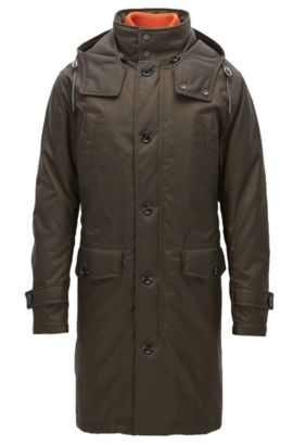 Water-repellent coat in an oversized fit, Khaki