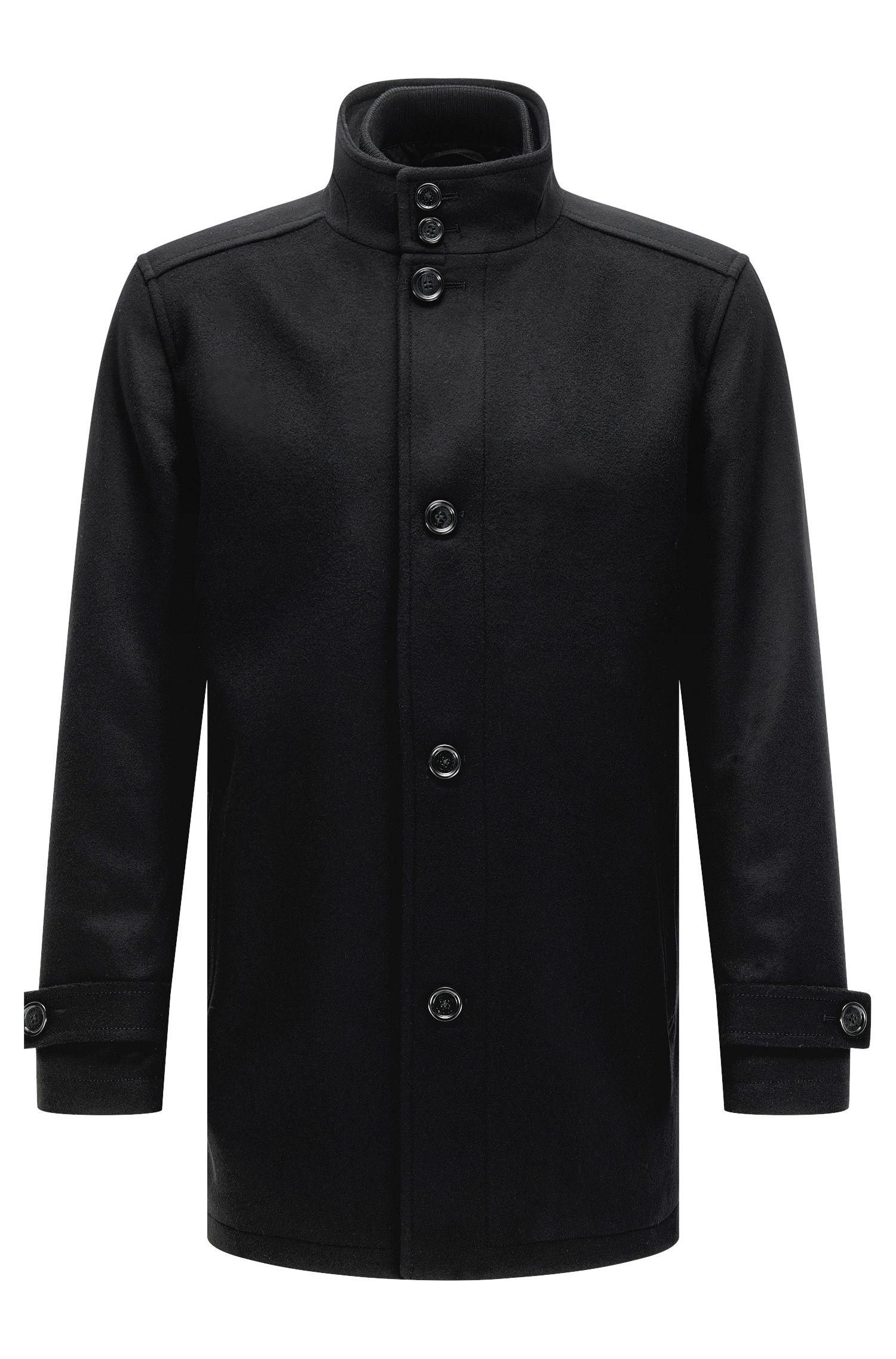 Cappotto regular fit in misto lana con gilet