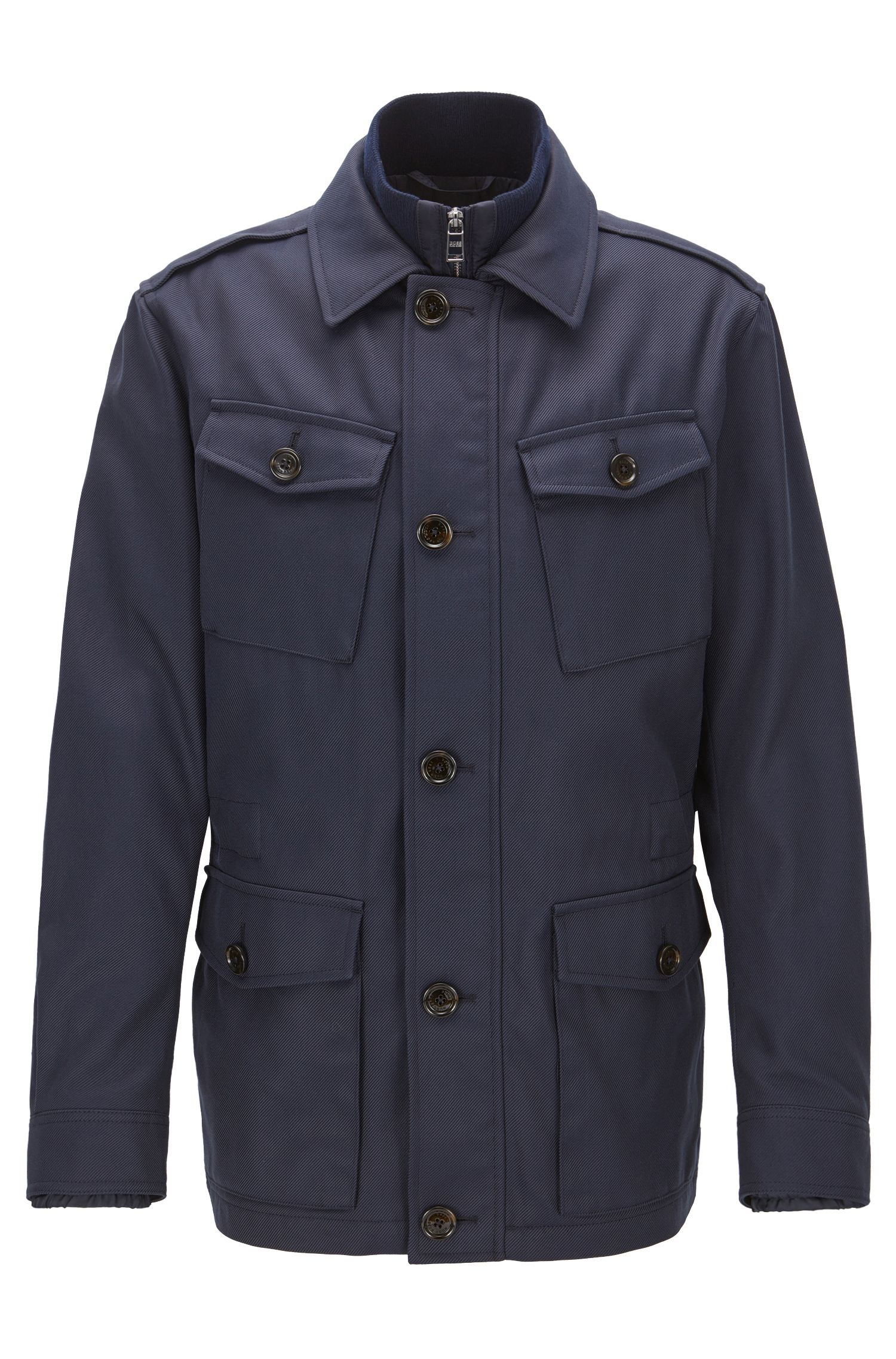 Relaxed-fit fieldjacket in een waterafstotende twill