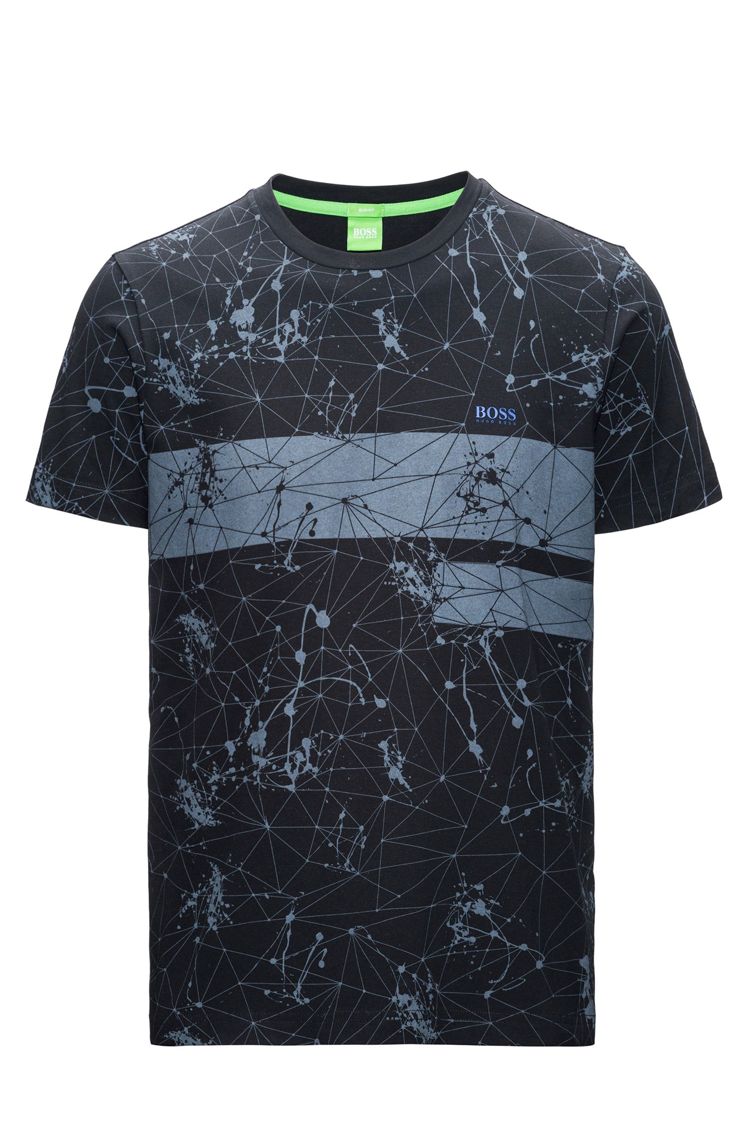 Regular-fit T-shirt van single jersey met print