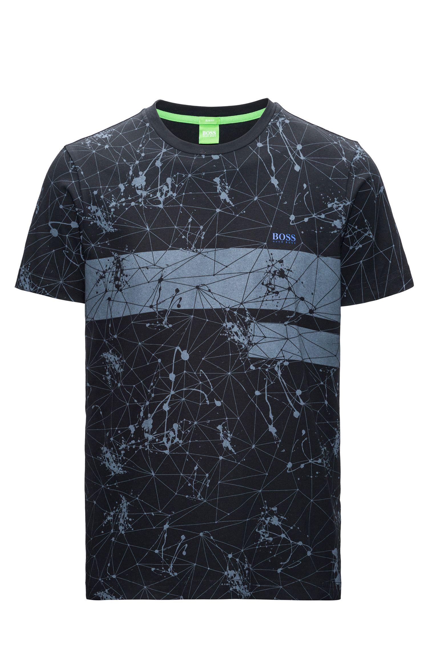 Regular-fit T-shirt van single jersey met print