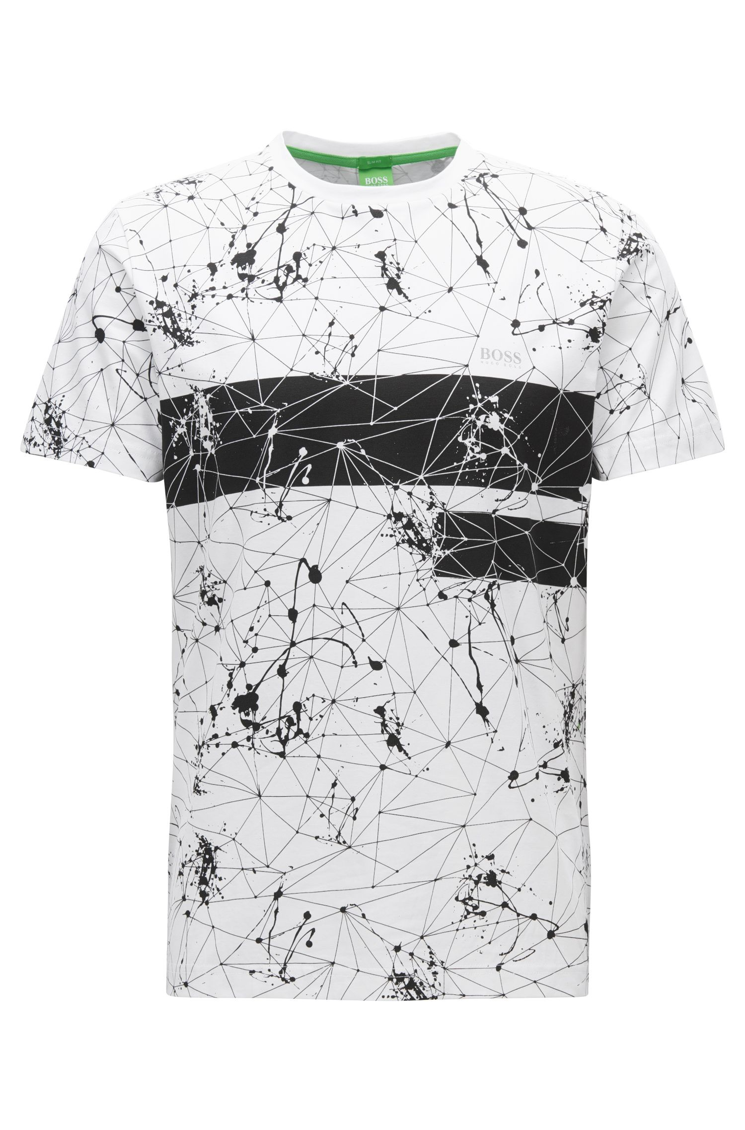 Regular-fit printed T-shirt in single jersey