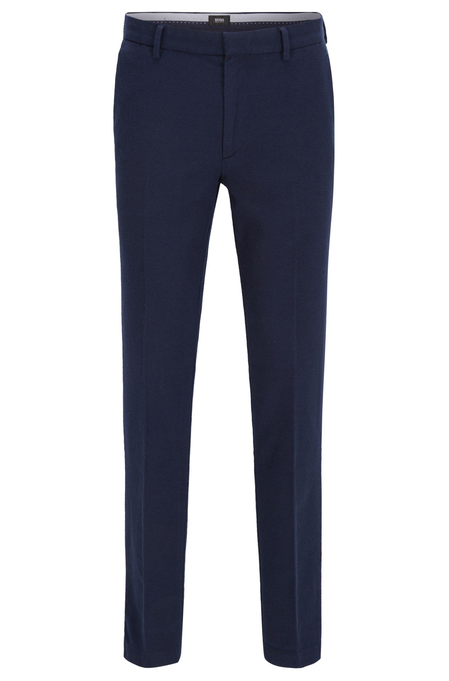 Slim-fit chinos in textured stretch cotton