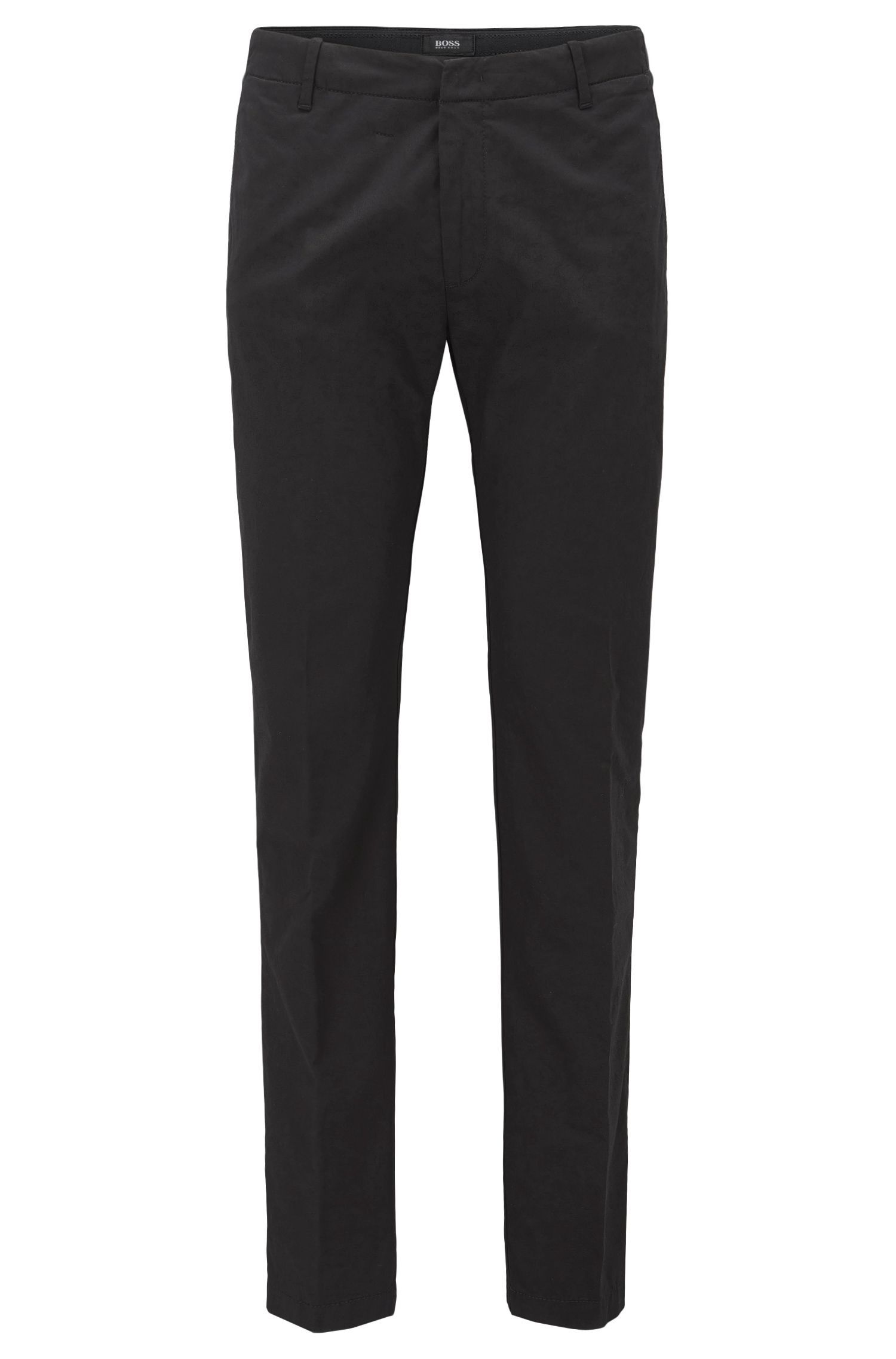 Slim-fit trousers in mercerised stretch cotton